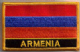 Armenia Embroidered Flag Patch, style 09.
